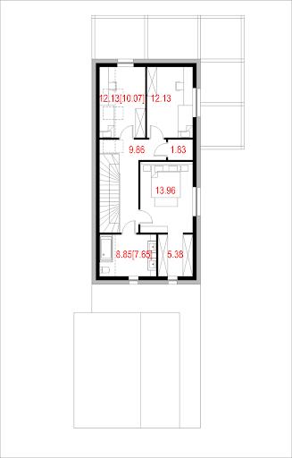 House X12 - Rzut piętra