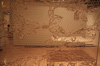 Photo: Annie Bascoul creates intricate time-consuming Alencon lace on a grand scale