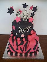 Photo: Hot Pink & Zebra cake
