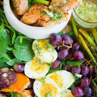 Salmon Asparagus Sweet Potato Nicoise