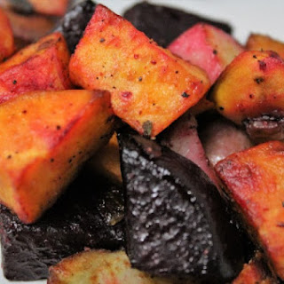 Fried Potatoes, Sweet Potatoes, & Beets