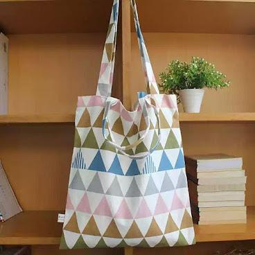 簡約三角帆布袋🔽🔺🔻🔼