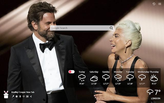 Bradley Cooper New Tab, Wallpapers HD