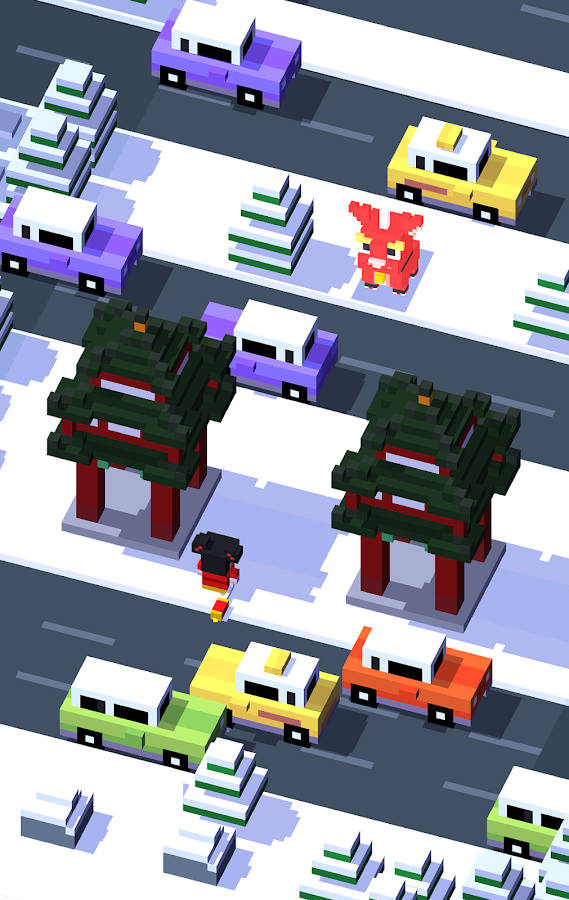 Screenshots of Crossy Road for iPhone