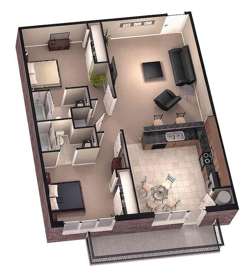 3d Modular Home Floor Plan Screenshot
