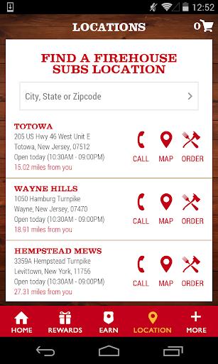 Firehouse Subs App Screenshot