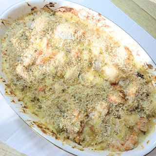 Scallop, Shrimp, Salmon and Cod Fish Pie with a Mediterranean Twist
