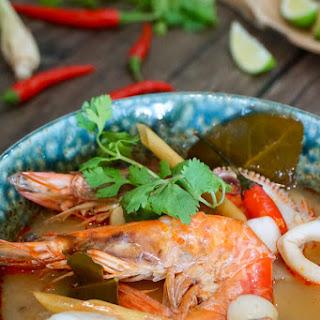 Seafood Tom Yum Soup (Tom Yum Talay) Recipe