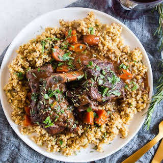 Instant Pot Red Wine Rosemary Short Ribs.