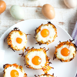 Sweet Potato HashBrown Egg Nests