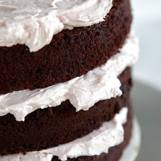 "Chocolate Cranberry Cake, one 8"" three-layer cake"