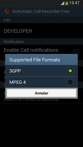 android Automatic Call Recorder Free Screenshot 4