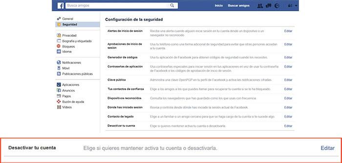 Eliminar cuenta Facebook Conquista internet