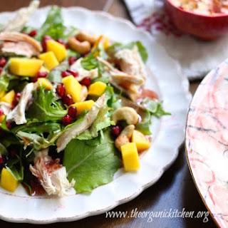 Mango Pomegranate Chicken Salad