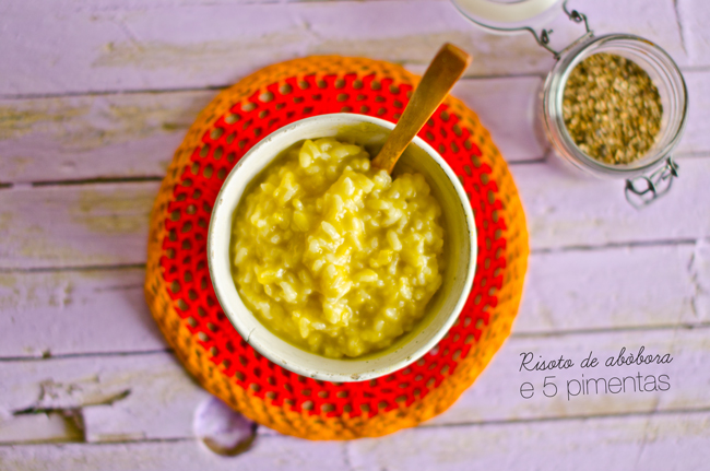 Pumpkin and 5 Pepper Risotto