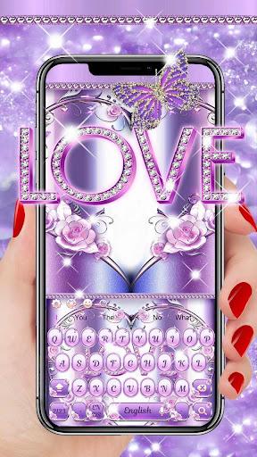 Purple Love Keyboard 10001002 screenshots 1