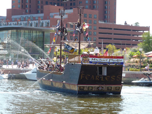 Watch the ships cruise the Inner Harbor in Baltimore, Maryland.