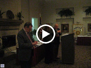 Video: District Governor Cynde Covington presenting the Paul Harris Fellowship award to Past President Dr. Dustin Ramey.