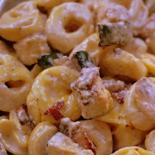 Bacon Mushroom Zucchini Tortellini.