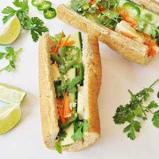 Tofu Bánh Mi Sandwich with Lemongrass.