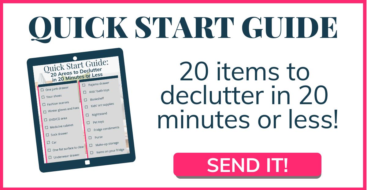 Decluttering checklist!