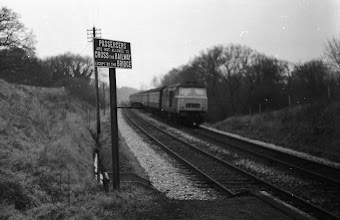 Photo: An up train at Finstock (April 1972)