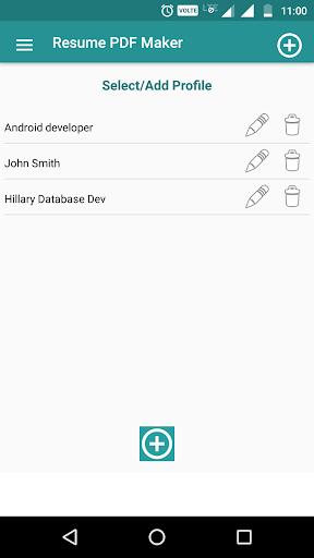 Resume PDF Maker / CV Builder 1.11 screenshots 3