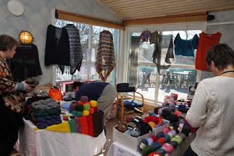 Photo: Och det var också KarMa garn från Torslanda som i princip startade upp sin verksamhet på Stickfest i Väst!