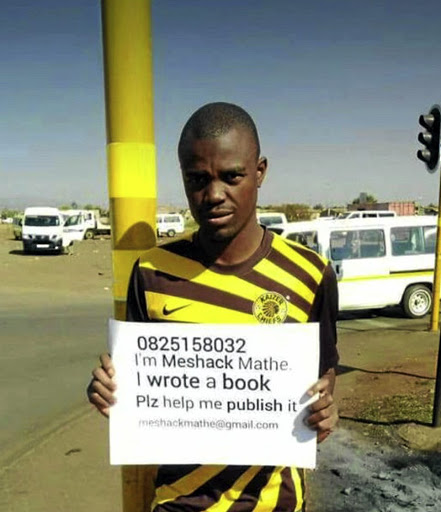 Meshack Bevhula begging on the streets for someone to publish his book.