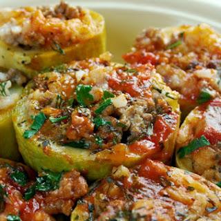 Stuffed Round Zucchini Beef Recipes