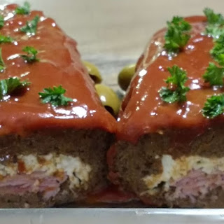 STUFFED DEER LEFTOVER MEATLOAF  with HOMEMADE PALEO KETCHUP Recipe