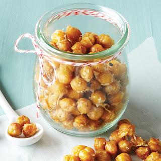 Garlic Parmesan Roasted Garbanzo Beans.
