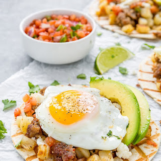Sausage and Potato Breakfast Tacos