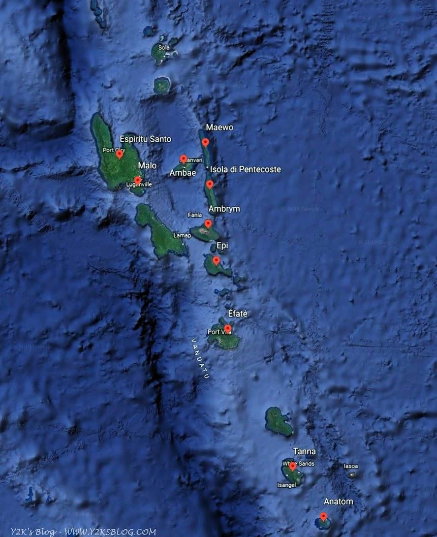 Le isole Vanuatu