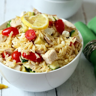 Lemony Orzo Chicken Salad