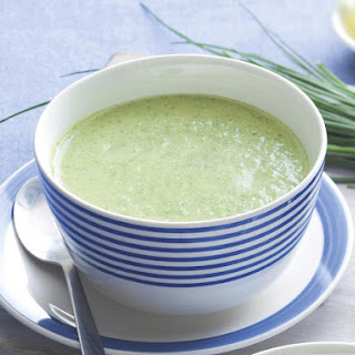 Chilled Zucchini and Chickpea Soup Recipe