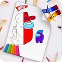 coloring for amoung us icon
