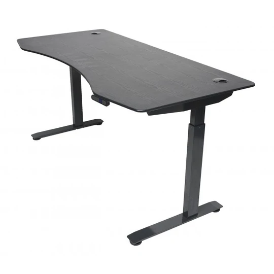 ApexDesk Elite Series Electric Height Adjustable Standing Desk is even better and meant to bear years of rough age made of sturdier material with curved midsection so you can sit closer to your office supplies