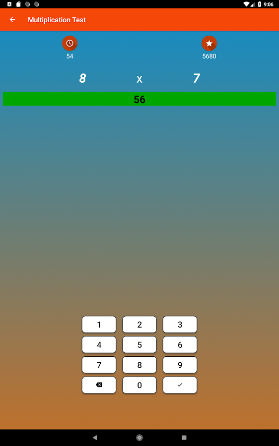 Multiplication Tables Math Game & Four Operations- screenshot