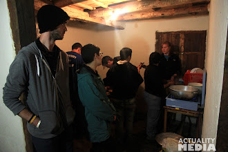 Photo: Making dinner in the high mountains with the FCT crew.