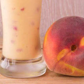 Peach Milk Shake with Soy Milk.