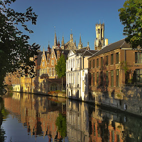 Bruges Reflections by Rory McDonald - Landscapes Travel