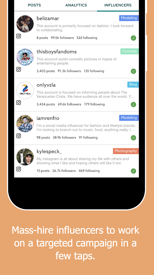 Rep - Influencer Marketing- screenshot