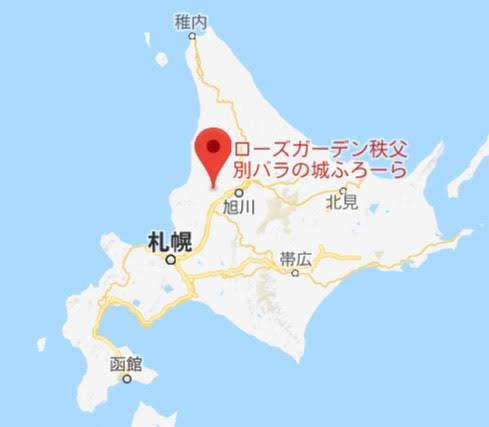 地図:ローズガーデンちっぷべつ