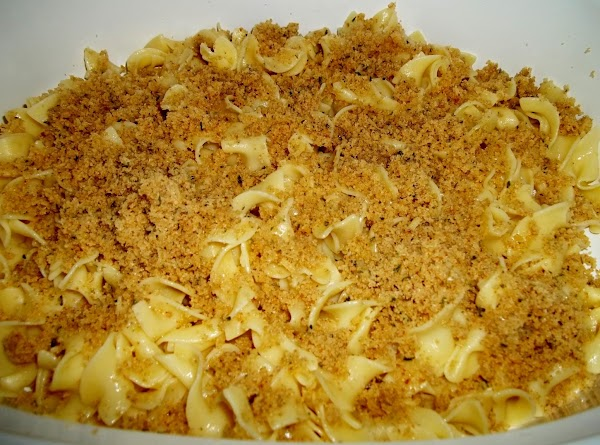 Place 1/3 of the noodles in the casserole dish. Now sprinkle 1/3 of the...