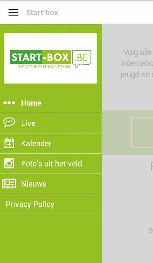 Start-box App- screenshot
