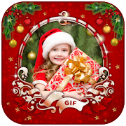 Merry Christmas GIF Photo Frame : Christmas Editor