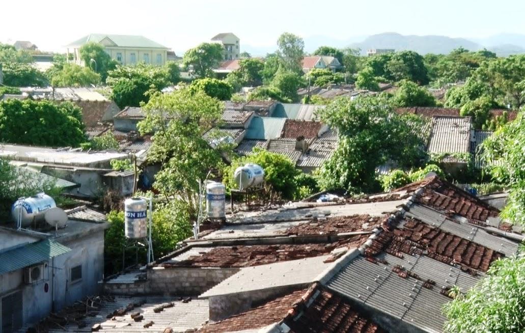 Một phần khu tập thể cũ khối 7, phường Bến Thủy, TP Vinh nhìn từ trên cao