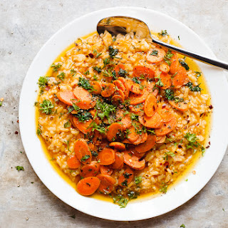 No-Stir Risotto with Herbed Caramelized Carrots Recipe