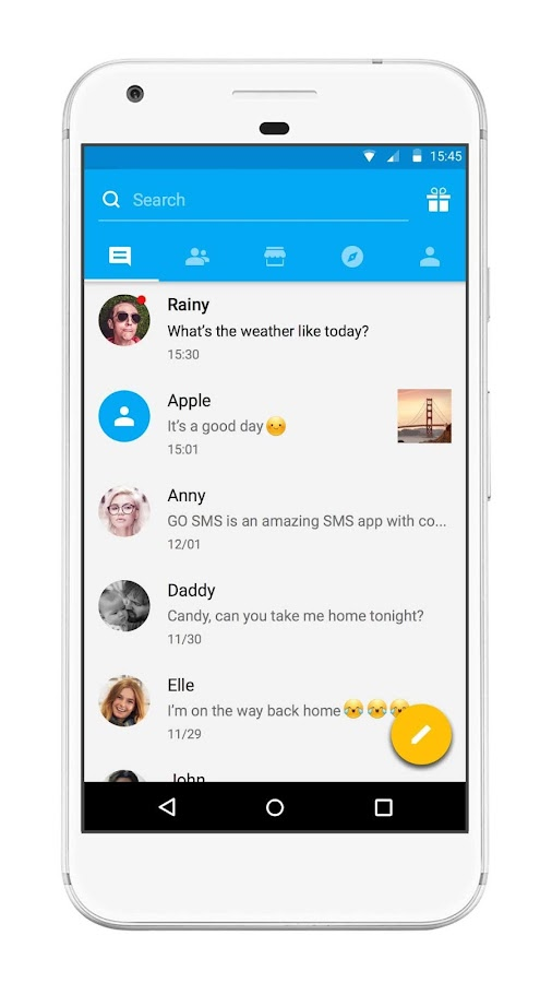 Screenshots of GO SMS Pro for iPhone